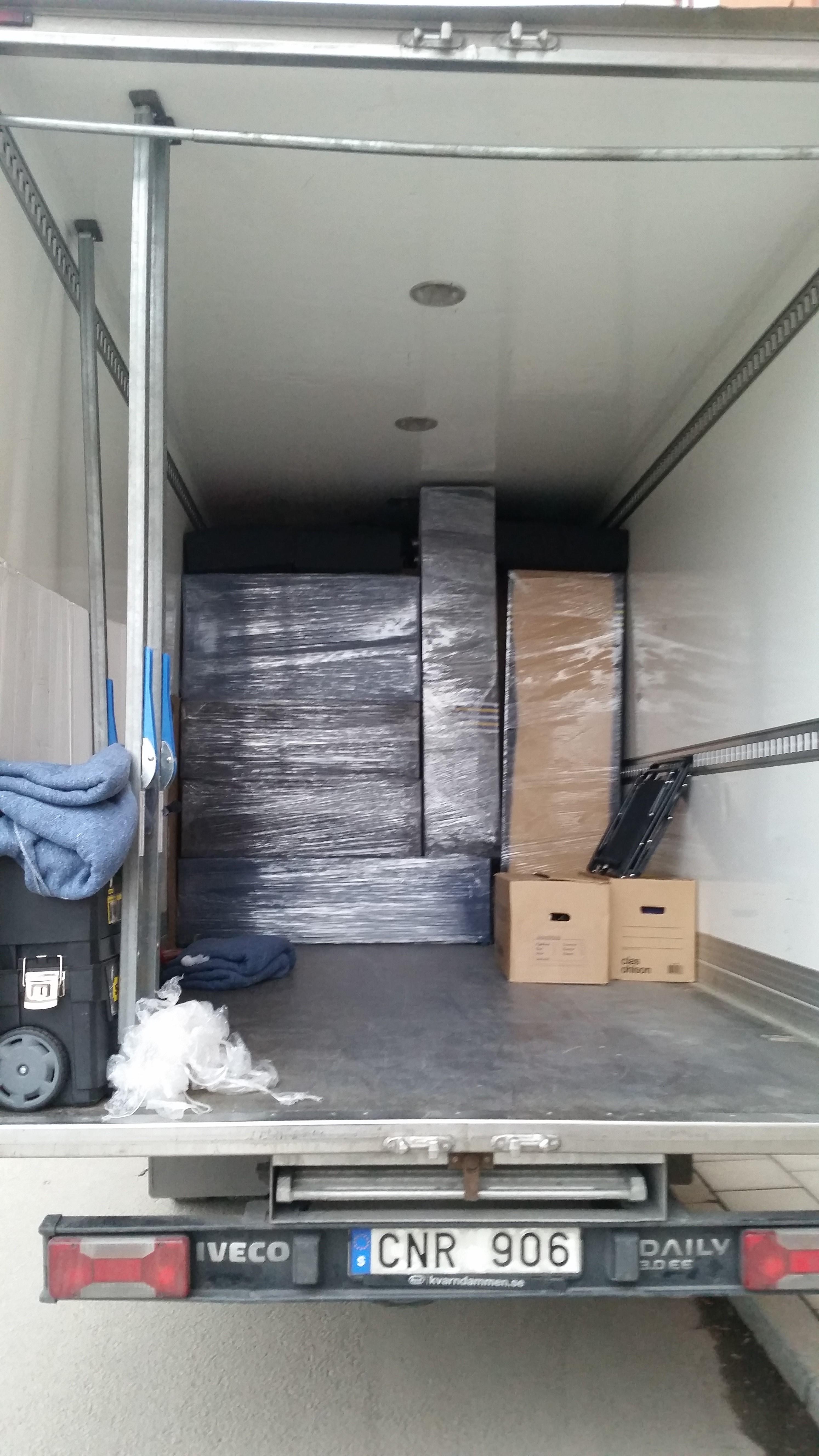 transport av möbler stockholm